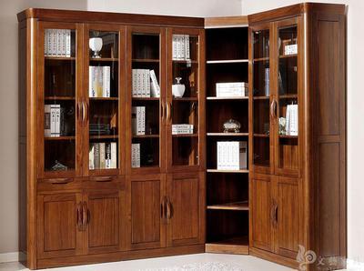 四门转角书柜两门书柜组合